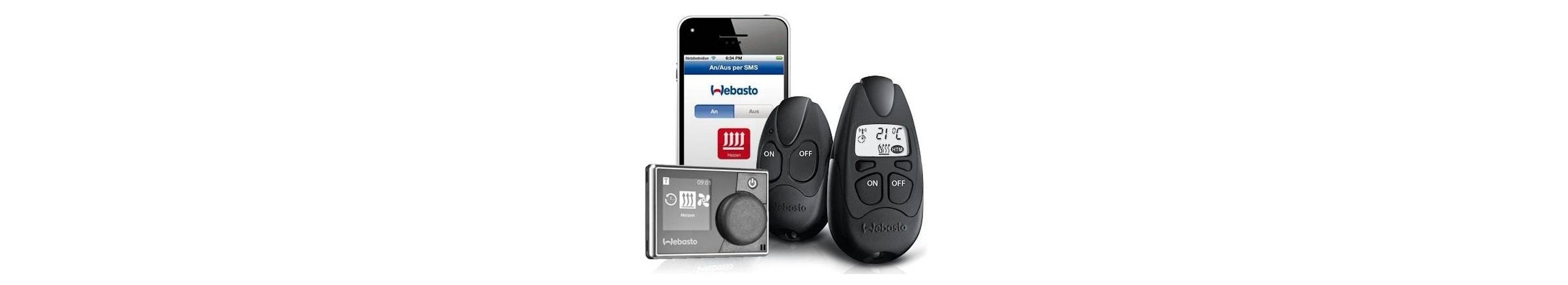 Webasto bediening standkacehl, klokje, afstandbediening of via app van uw telefoon