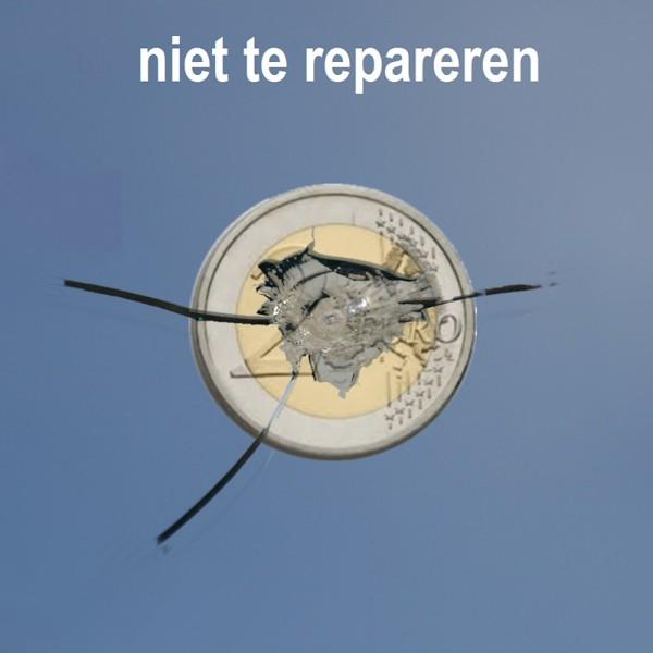 niet te repareren autoruit ster als groter dan euromunt  www.carcoolsystems.nl